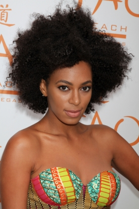 Solange Knowles chooses to wear her hair naturally, one of the few Black celebrities that does.