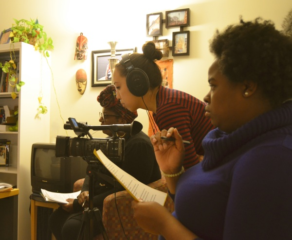 On location for the Progressive Pupil production Black and Cuba at the Amnesty International offices in Washington, DC.