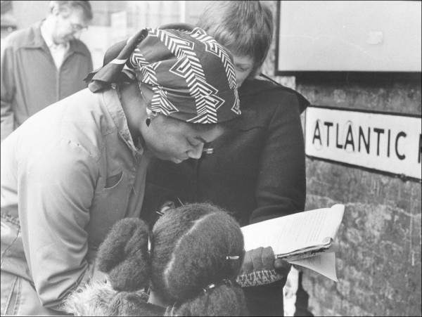 Photo courtesy of the Socialist Party, Brixton, United Kingdom, 1981.