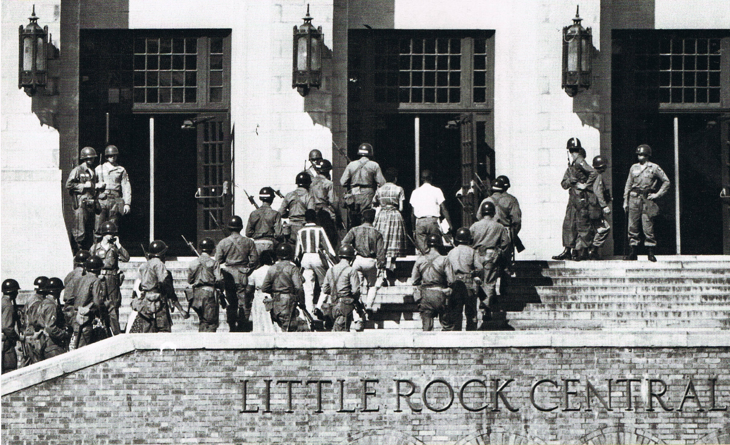 the little rock 9 The little rock nine were the nine african-american students involved in the desegregation of little rock central high school their entrance into the school in 1957.