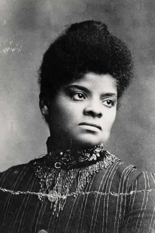 Ida B. Wells, journalist, editor, Civil Rights activist and suffragist. Photograph by Oscar B. Willis, courtesy of the New York Public Library's Schomburg Center for Research in Black Culture.