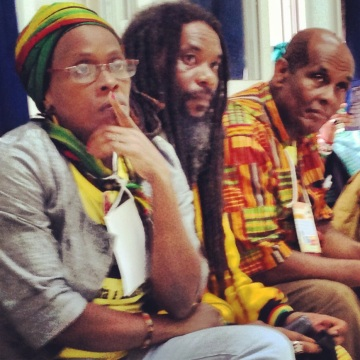 Members of Coordenação Nacional de Entidades Negras (CONEN) discussed what PanAfricanism meant to Brazil at the 2013 World Social Forum.