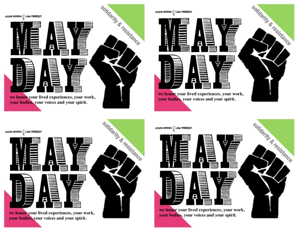 May Day postcard courtesy of the Sylvia Rivera Law Project archive.