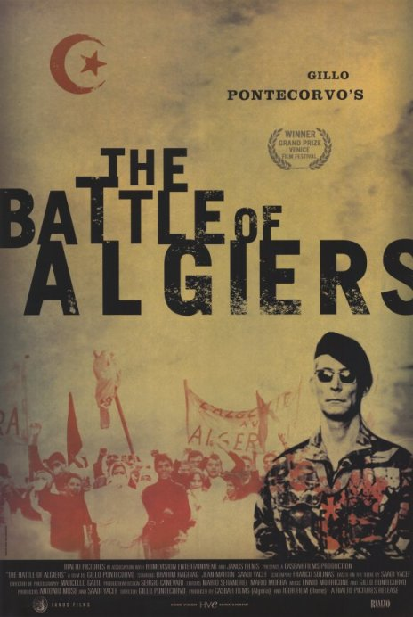 Battle of Algiers Movie Poster, image courtesy of IMDB