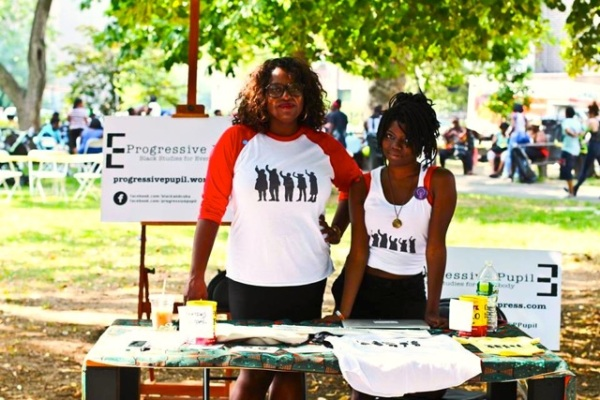 Principal Organizer Robin Hayes and Community Outreach Intern Shannon Shird at BedStuy Pride. Image Courtesy of
