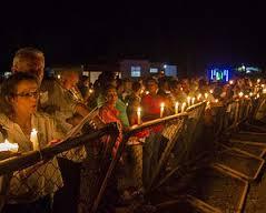75th Anniversary Haitian Massacre Vigil. Photo courtesy of BordersofLight.org