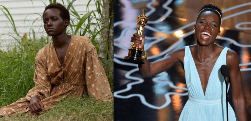 (L.) Patsey from 12 Years a Slave Francois Duhamel/Fox Searchlight (R.) Lupita Nyong'o Kevin Winter/Getty Images