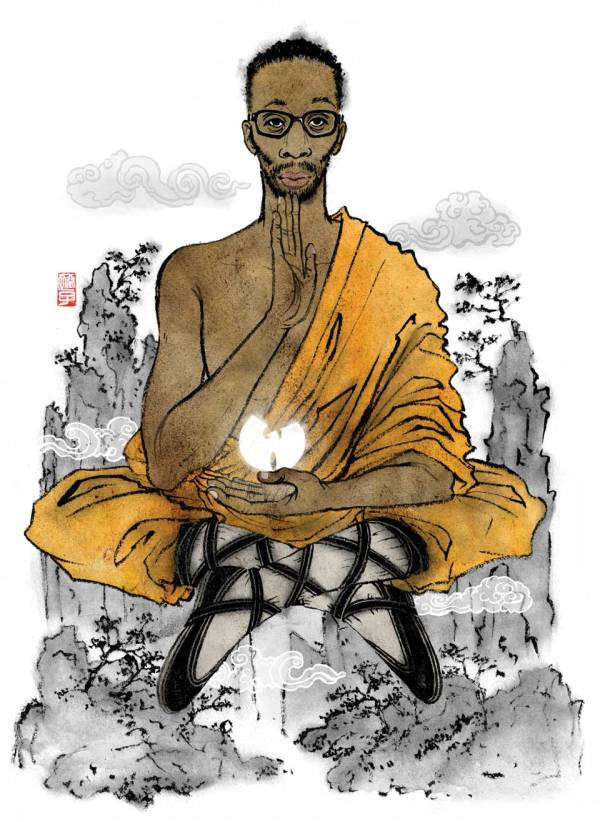 Wu Tang Clan founding member Rza, rendered as the Buda by artist Yuko Shimizu.  Image courtesy of Yukoart.com