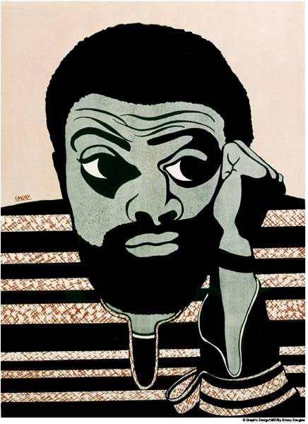 Portrait of Amiri Baraka by former Black Panther Party Revolutionary Artist Emory Douglas.