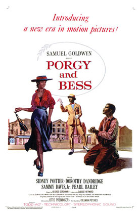 Poster for the 1959 release of 'Porgy and Bess'