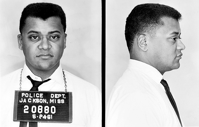 James Lawson arrested on May 24, 1961. Photo courtesy of breachofpeace.com