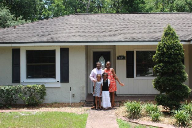 The Cunningham family became homeowners through the #NACAPurchase Program. Image Courtesy of Neighborhood Assistance Corporation of America (NACA).