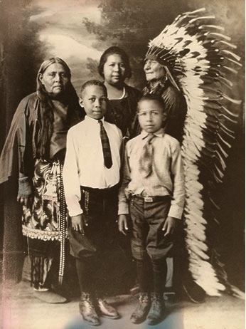 Comanche family, early 1900s. Photo courtesy of Sam DeVenney.